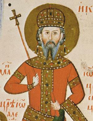 Портрет на Иван-Александър в Лондонското евангелие