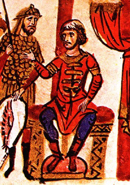 Омуртаг, миниатюра от хрониката на Йоан Скилица, 11 век