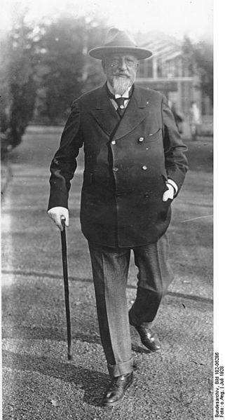 Бившият цар Фердинанд І в Германия, 1928 г.