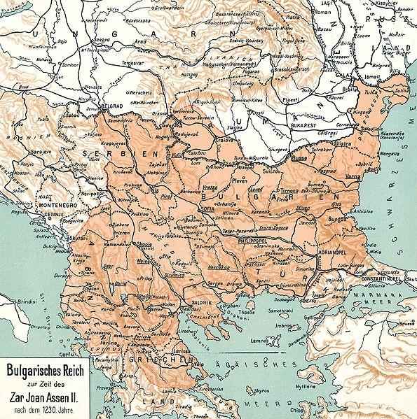 Българската държава след 1230 г. според атласа на Димитър Ризов