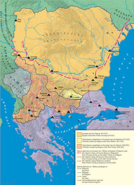 Територия на България при управлението на кан Пресиан