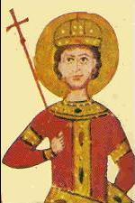 Миниатюра на Иван Шишман от Лондонското четвероевангелие на цар Иван Александър