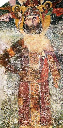 Ктиторски потрет на цар Иван Александър от Бачковсия манастир