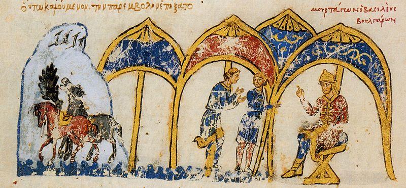 Българските вестители се завръщат при Омуртаг с отговор на Михаил III