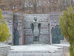 Паметник на цар Самуил, Самуилова крепост, край Петрич, България.